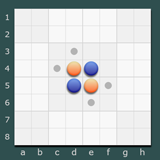 ScreenShot Image : UX-Reversi - Computer strategy game for Microsoft .NET Framework for Silverlight